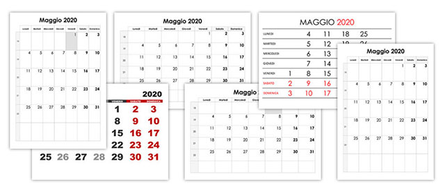 Calendario Di Maggio 2020.Calendario Maggio 2020 Calendario Su