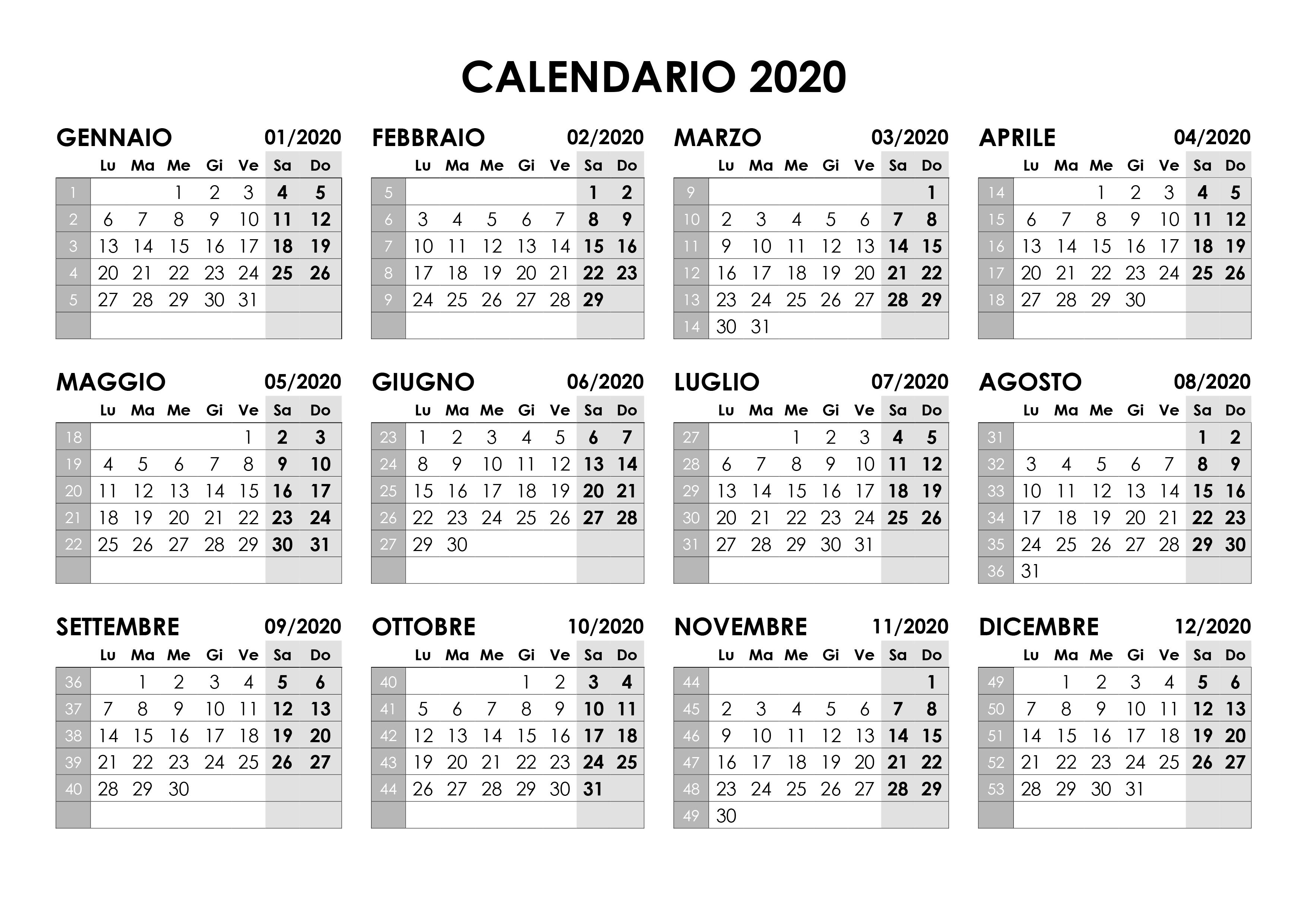 Calendario Semina Orto 2020.Calendario Luglio Agosto 2020