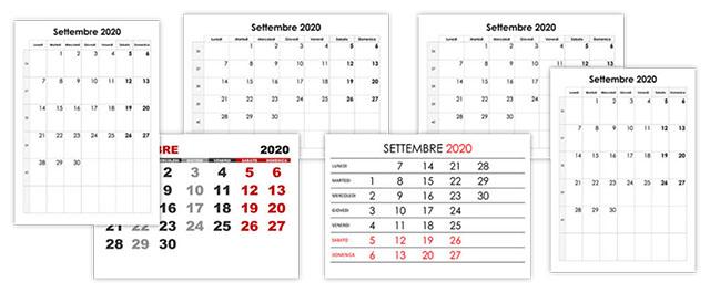 Calendario Da Settembre 2019 A Giugno 2020.Calendario Settembre 2020 Calendario Su