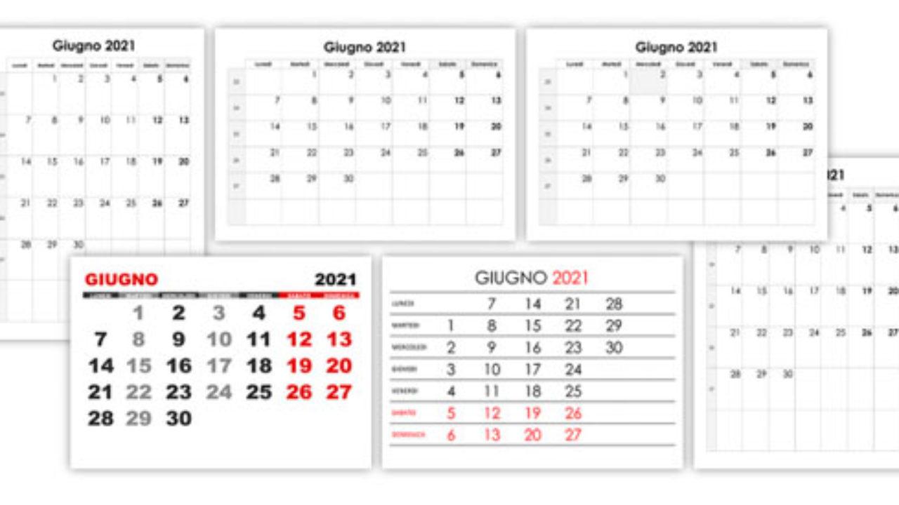 Calendario giugno 2021 – calendario.su