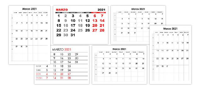 Marzo Calendario.Marzo Calendario Su