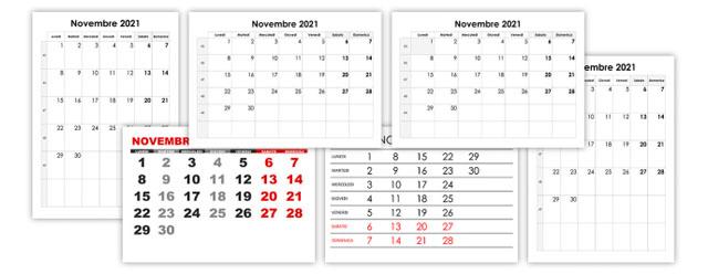 Calendario novembre 2021 – calendario.su