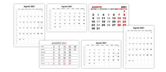 Agosto Calendario.Agosto Calendario Su
