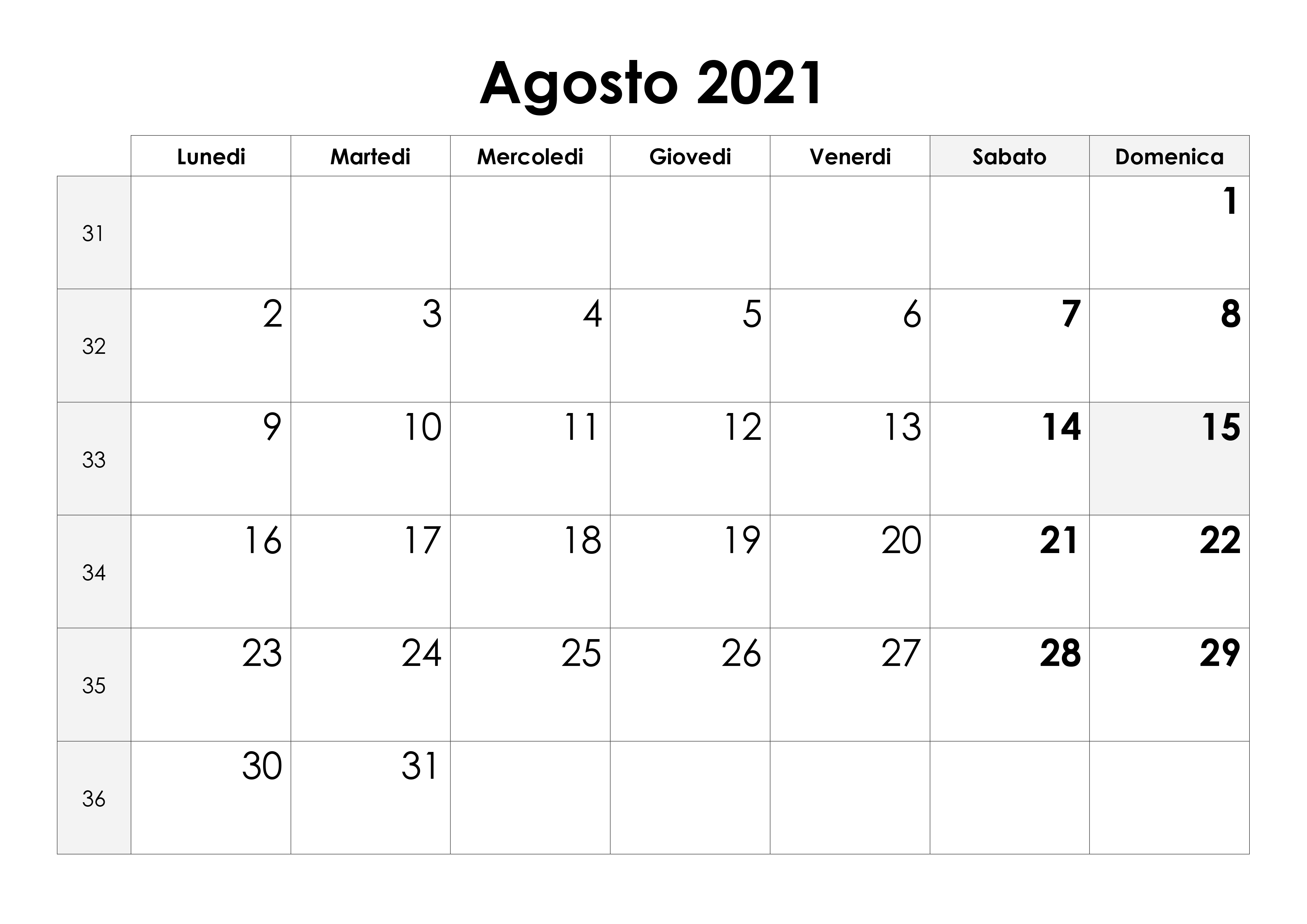 Calendario agosto 2021 – calendario.su