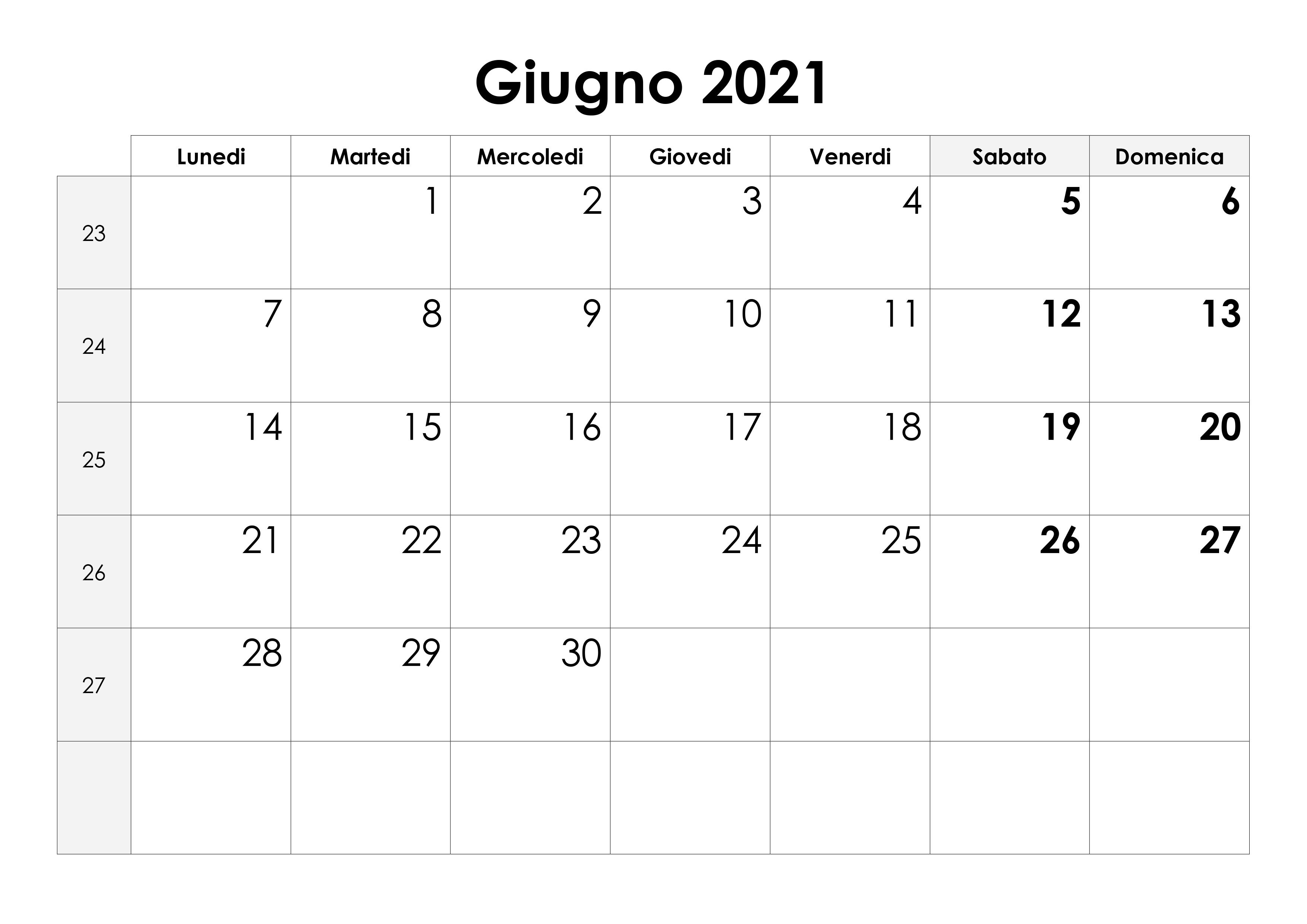 Calendario Giugno 2021 Mensile Calendario giugno 2021 – calendario.su