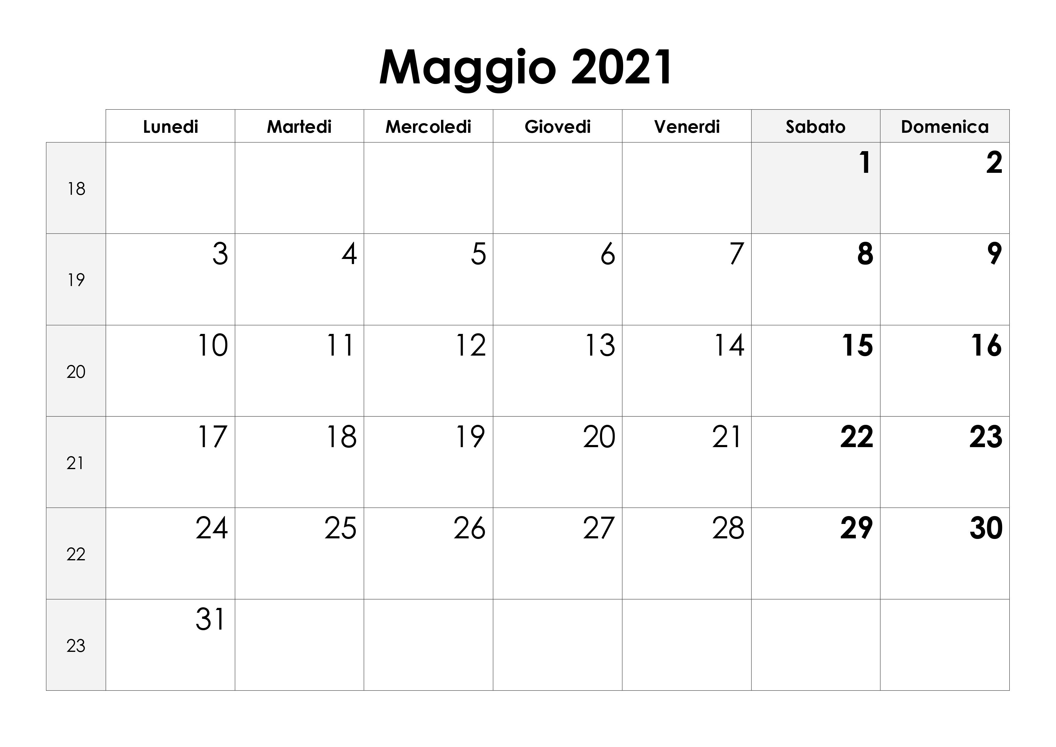 Calendario maggio 2021 – calendario.su
