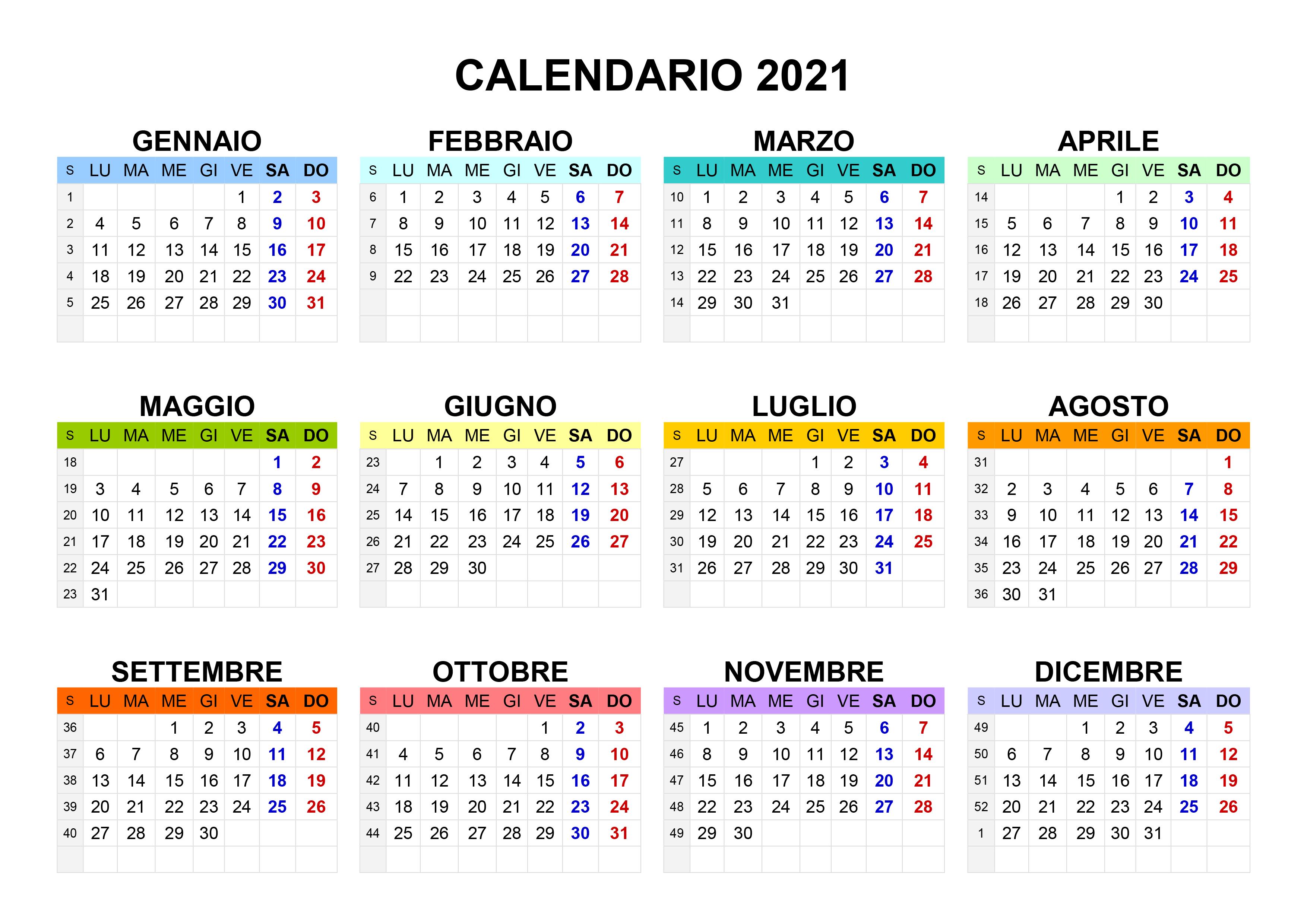 Template Calendario 2021 Bambini Calendario 2021 annuale – calendario.su