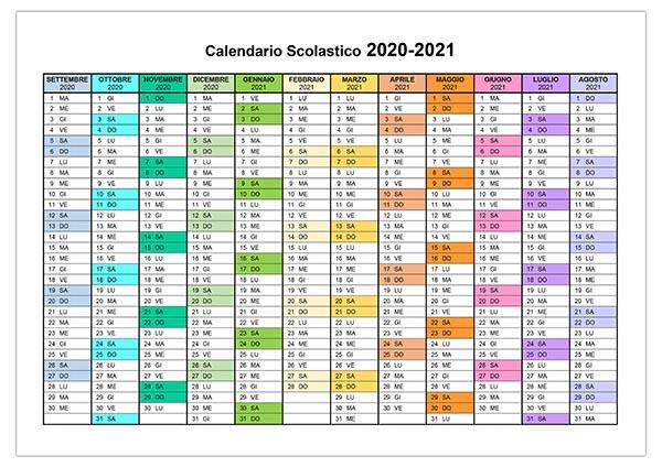 Calendario 2020 2021 Stampabile Calendario 2020 2021 – calendario.su
